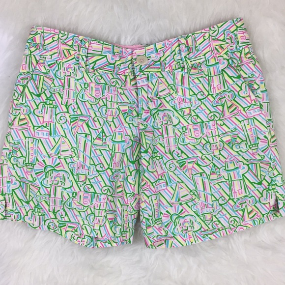 918a4caea4 Lilly Pulitzer Shorts | Guiding Light Sz 0 Sailboats | Poshmark